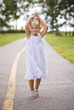 Portrait of a little girl in the park Royalty Free Stock Photography