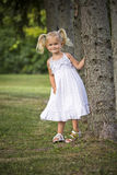 Portrait of a little girl in the park Stock Image