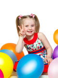 Portrait of a little girl playing with balls Stock Photography
