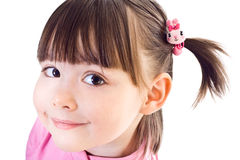 Portrait of little girl with ponytails Royalty Free Stock Photo