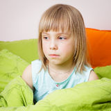 Portrait of little girl with pox Royalty Free Stock Images