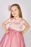 Portrait of little girl in princess dress Royalty Free Stock Images