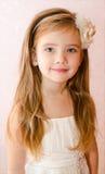 Portrait of little girl in princess dress Stock Photos