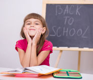 Portrait of a little girl in school Royalty Free Stock Images
