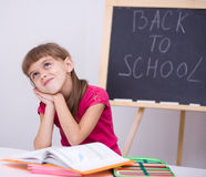 Portrait of a little girl in school Stock Photos