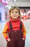Portrait of little girl in shop Royalty Free Stock Images