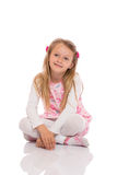 Portrait of a little girl sitting Stock Photo