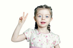 Portrait of a little girl of Slavic appearance Stock Photos