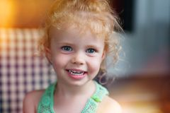 Little girl smilng stock images