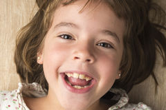 Portrait of little girl smiling Royalty Free Stock Photo
