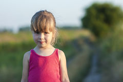 Portrait of a little girl on a sunny day Royalty Free Stock Image