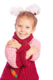 Portrait of little girl in sweater Royalty Free Stock Photography