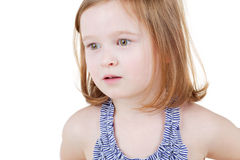 Portrait of little girl in swimsuit Royalty Free Stock Photo