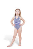 Portrait of little girl in swimsuit posing Stock Photo