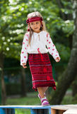 Portrait of Ukrainian little girl Stock Image