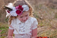 Portrait of little girl in vintage style  Royalty Free Stock Image