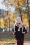 Portrait of little girl on a walk Royalty Free Stock Image