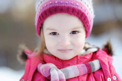 Portrait of a little girl at winter Stock Image