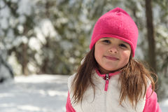 Portrait of a little girl  in winter Stock Photography