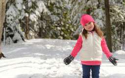 Portrait of a little girl  in winter Royalty Free Stock Images