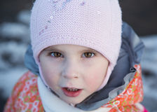 Portrait of little girl. Stock Photos