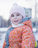 Portrait of little girl. Royalty Free Stock Image