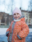 Portrait of little girl. Royalty Free Stock Photography