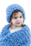 Portrait of little girl in winter hat Royalty Free Stock Image