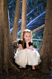 Portrait of a little girl in the woods Stock Photography