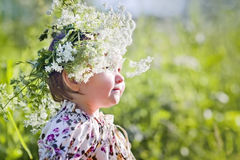 Portrait of little girl with wreath Royalty Free Stock Photos