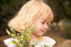 Portrait of little girl 3 years old, Stock Photo