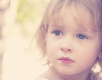 Portrait of little girl 3 years old, Royalty Free Stock Photography