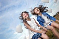 Portrait of a little girls Stock Photo