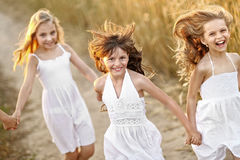 Portrait of little girls Stock Images