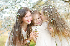 Portrait of little girls sisters Stock Photography