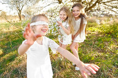 Portrait of little girls sisters Stock Images