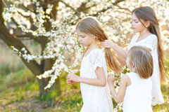 Portrait of little girls sisters Royalty Free Stock Photography