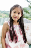 Portrait of little happy asian cute Girl Stock Images