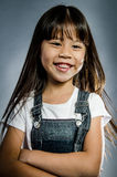 Portrait of little happy asian cute Girl Royalty Free Stock Images