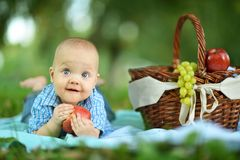 Portrait of little happy boy Royalty Free Stock Photo