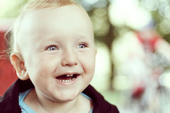Portrait of little happy boy Royalty Free Stock Photography