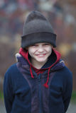 Portrait of a little homeless boy Royalty Free Stock Photography