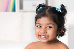 Portrait of little Indian baby girl Stock Photo