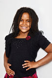 Portrait of a little jamaican girl Royalty Free Stock Images
