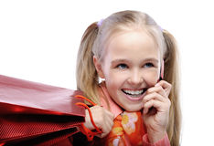 Portrait of little laughing girl Stock Images