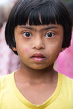 Portrait of little local girl Royalty Free Stock Photo