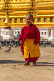 Portrait of a little monk Stock Photography