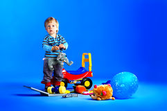 The portrait of a little one year old boy Royalty Free Stock Image