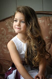 Portrait of little pretty girl. Royalty Free Stock Images