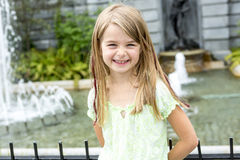 Portrait of little pretty girl. A Portrait of little pretty girl outside Stock Photos